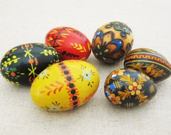 Vintage Eggs, Hand Painted Easter Decor, Hand Painted European Style