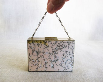 Vintage Double Sided Compact Purse, Small Handbag, Makeup Case