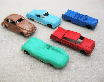Vintage Tootsie Toy Car Collection, Mid-Century Toys, Cast Metal, Chicago