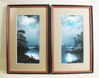 Vintage Landscape Painting, Signed Leopold Von Stubenrauch, Framed Original Fine Art