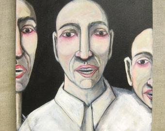 Male Portrait Painting, Group Portrait, Wil Shepherd Studio, Paintings of Men, Original Fine Art, Portraiture, Handmade, Hand Painted