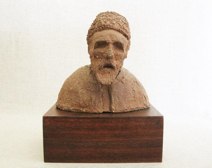 Featured listing image: Vintage Male Portrait Bust, Studio Ceramics Sculpture, Pottery, Elkins