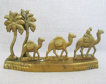 Vintage Camel Sculpture, Brass Statue, Animal Figurines, Decorative Home Decor