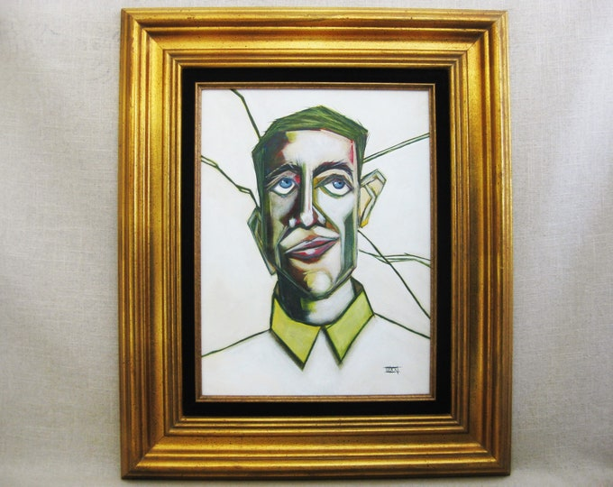 Featured listing image: Male Portrait Painting, Original Fine Art, Framed Paintings of Men, Wall Decor