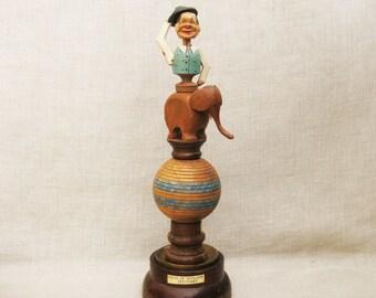 Folk Art Assemblage Sculpture, Found Object, Circus Elephant, Whimsical, Original Fine Art
