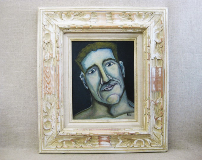 Featured listing image: Male Portrait Painting, Framed Original Fine Art, Paintings of Men