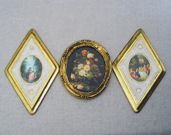 Vintage Florentine Plaque Collection, Italian Wall Decor