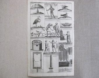 Antique Engraving, John Harris, Male Portrait, Asia and Africa, Navigantium Itinerantium bibliotheca