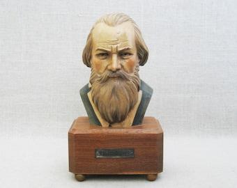 Vintage Bust of Brahms Toriart Music Box