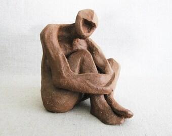Vintage Male Portrait Sculpture, Ceramic Male Figure, Mid-Century Ceramics