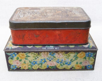 Vintage Candy Tins, Storage and Organization, Metal Boxes