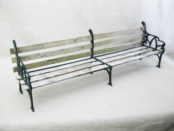 Wondrous Vintage Doll Size Wood And Cast Metal Park Bench 25 Inches Long Weathered Miniature Seating Display Rustic Decor Outdoor Furniture Ibusinesslaw Wood Chair Design Ideas Ibusinesslaworg