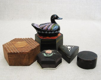 Vintage Boxes, Collection, Small Trinket Boxes, Storage and Organization