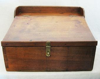 Vintage Portable Writing Desk, American Primitive Antique Box