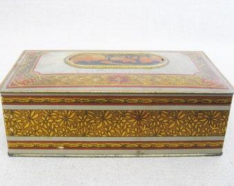 Vintage Candy Tin, Antique Metal Box, Storage and Organization