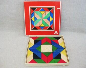 Vintage Toy Blocks, Creative Toys, Educational, Tofa, Czechoslovakia