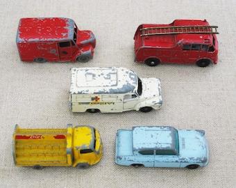 Vintage Lesney Toy Cars, Cast Metal English Toys