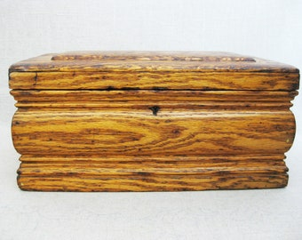 Vintage Box, Primitive Wooden Document Box, Storage, Organization, Rustic Cabin Decor