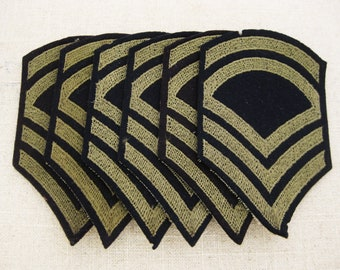 Vintage Military Patch Collection, Grouping, Technical Sargent Grade 2