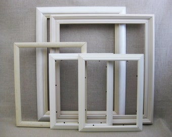 Vintage Frames, Collection of Wooden Picture Frames, Art and Craft Supplies