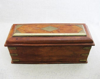 Vintage Box, Wood Box with Compartments, Storage and Organization