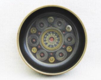 Vintage Denby Pottery Serving Bowl, Arabesque Pattern, Mid-Century Dish