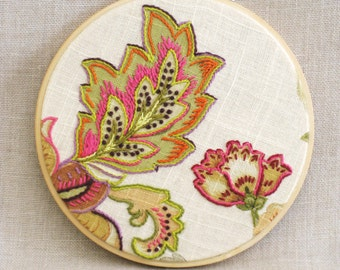 Hoop Art Hand Embroidery, Flowers, Floral, Wall Decor, Wedding, Embroidered