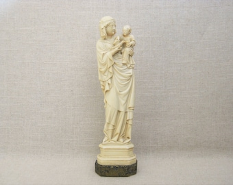 Vintage Female Portrait, Carved Stone Statue, Eileithyia