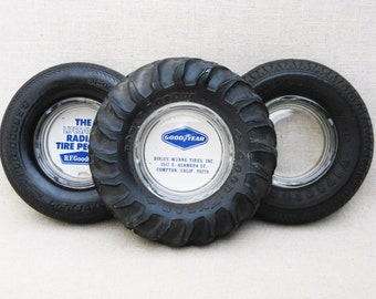 Vintage Tire Ashtray, Novelty, Collection, Dresser Tray, Desk Top Organization