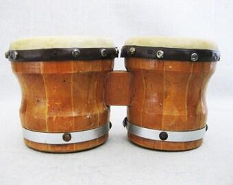 Vintage Bongo Drums, Child Size Musical Instruments