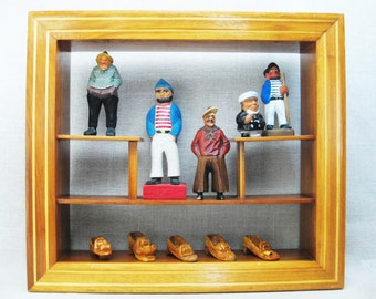 Vintage Curio Shelf, Display Case, Wall Decor