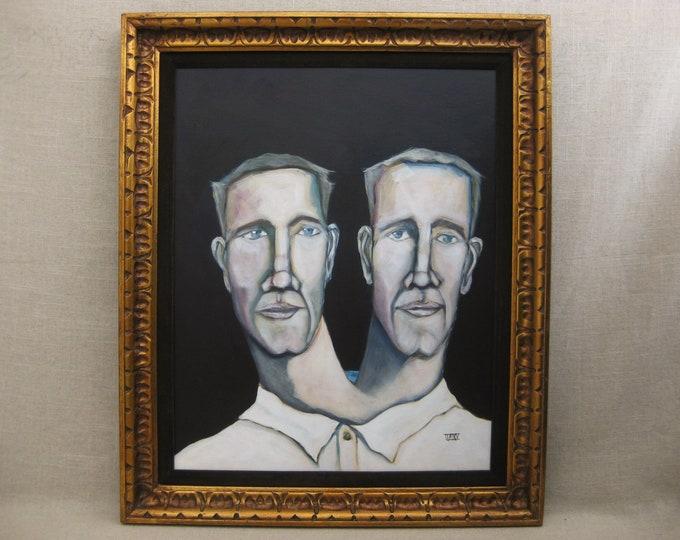 Featured listing image: Original Male Portrait Painting, Framed Original Fine Art, Paintings of Men