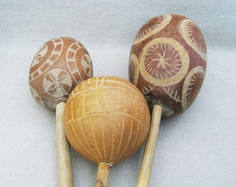 Vintage Maracas, Puerto Rico, Latin Musical Instrument