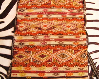 Vintage Camel Bag, Area Rug, Floor Pillow, Wall Hanging, Wool, Woven, Turkish Textiles, Small Carpet