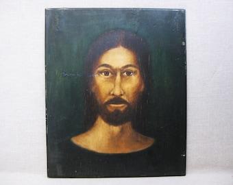 Vintage Male Portrait Painting, Religious Art, Rev Joel D Hewlett, Framed African American Folk Art