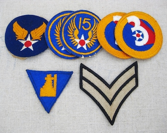 Vintage Military Patch Collection, Grouping