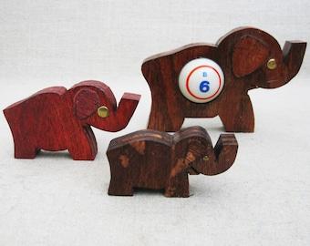 Vintage Elephant, Bingo Good Luck Charms, Folk Art Animals