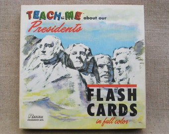 Vintage President Flash Cards, Teaching and Educational Toys