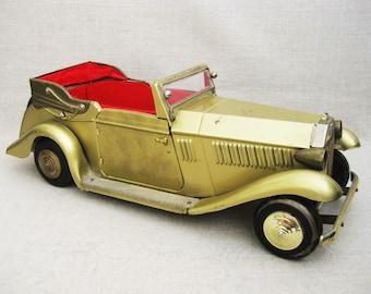 Vintage Metal Car, Rolls Royce Music Box, Decanter Stand, Bar Decor, Man Cave Decor