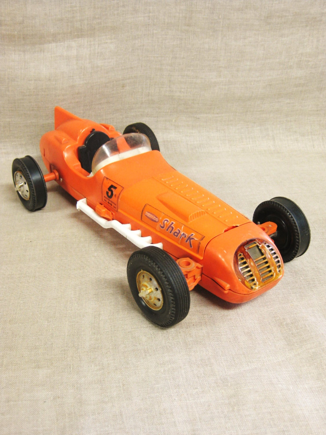 Vintage Remco Shark Toy Car, Transportation, Orange, Race Car, Automobile,  Racecar, Vintage Toys, Vehicle, Hot Rod, Speed Racer, Racer