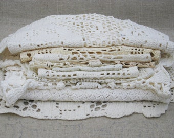 Vintage Doily Collection, Sewing and Craft Supplies, Handmade Crochet