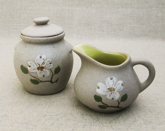 Vintage Sugar and Creamer Set, Pigeon Forge Pottery, Pair