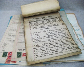 Vintage Deeds, Antique Documents, Property Deed, Late 1800, Collection