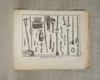 Vintage Engraving, Bookplate, Bernard Direxit, 18th Century, Original