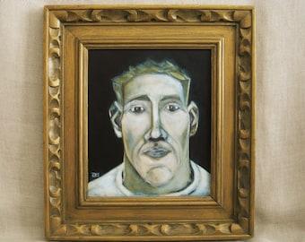 Male Portrait Painting, Original Fine Art, Framed Paintings of Men, Wall Decor