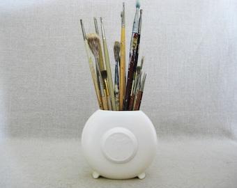 Vintage Paint Brushes, Collection, Art Supplies, Brush Pot