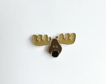 Moose Enamel Pin - Canadian - Canada 150th Lapel pin - Wildlife - Deer - Canada pin - Great White North - Camp pin - Camping pin