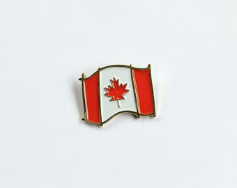 Canadian Flag Enamel Pin - Canada flag pin - Canada 150th Birthday - Canadiana - Lapel pin - Canada Flag - Maple Leaf - Canada 150