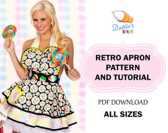 Womens Retro Apron Pattern and Tutorial