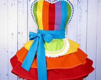 Fairy Rainbow Princess Ballerina Apron Made to Order